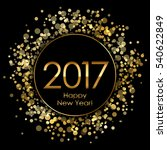 2017 background with gold... | Shutterstock . vector #540622849