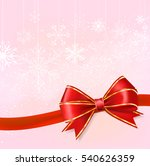 red ribbon bow on snowflakes on ... | Shutterstock .eps vector #540626359