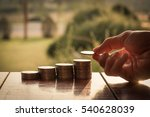 close up hand putting money... | Shutterstock . vector #540628039