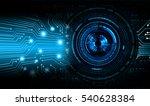 future technology  blue eye... | Shutterstock . vector #540628384