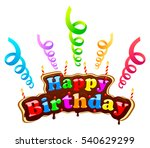 happy birthday sign in the form ... | Shutterstock .eps vector #540629299