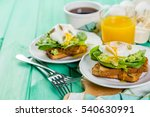sandwich with spinach  avocado... | Shutterstock . vector #540630991