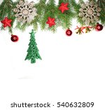 christmas background with fir... | Shutterstock . vector #540632809