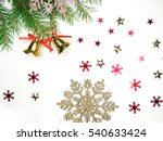 christmas background with fir... | Shutterstock . vector #540633424