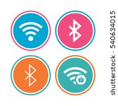 wifi and bluetooth icons.... | Shutterstock .eps vector #540634015