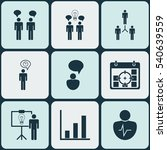 set of 9 authority icons.... | Shutterstock .eps vector #540639559