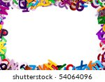 background with letters | Shutterstock . vector #54064096
