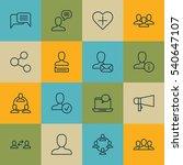 set of 16 social network icons. ... | Shutterstock .eps vector #540647107