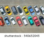 empty parking lots  aerial view.