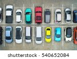 empty parking lots  aerial view. | Shutterstock . vector #540652084