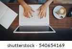 hipster woman's hands busy... | Shutterstock . vector #540654169