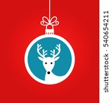 christmas ball with reindeer... | Shutterstock .eps vector #540654211