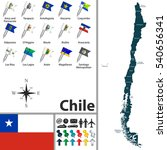 vector map of chile with... | Shutterstock .eps vector #540656341