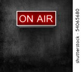 on air luminous board warning... | Shutterstock . vector #54065680
