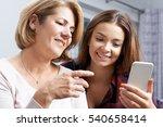 teenage daughter showing mother ...   Shutterstock . vector #540658414