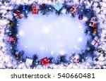 frame. toned image. christmas... | Shutterstock . vector #540660481