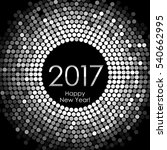happy new year 2017   silver... | Shutterstock . vector #540662995