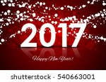 2017   happy new year red... | Shutterstock . vector #540663001