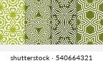 set of original floral patterns.... | Shutterstock .eps vector #540664321