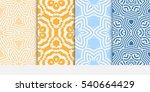 floral ornament. set of... | Shutterstock .eps vector #540664429