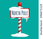 christmas icon north pole sign... | Shutterstock . vector #540671125
