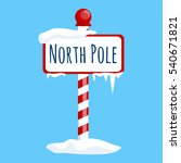 christmas icon north pole sign... | Shutterstock . vector #540671821