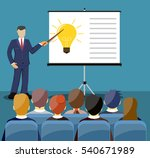 businessman in suit and tie... | Shutterstock .eps vector #540671989