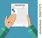 hands holds a prescription rx... | Shutterstock .eps vector #540672175