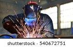 welders working at the factory... | Shutterstock . vector #540672751