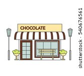 chocolate cafe with lamps ... | Shutterstock .eps vector #540676561