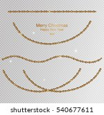 christmas gold garland  new... | Shutterstock .eps vector #540677611