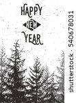 vintage forest print. vector...   Shutterstock .eps vector #540678031