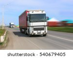 big powerful truck moves on... | Shutterstock . vector #540679405