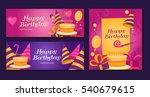 happy birthday banners... | Shutterstock .eps vector #540679615