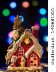 christmas fairy house with... | Shutterstock . vector #540681325