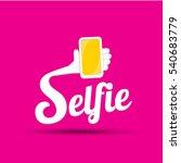 taking selfie photo on smart...   Shutterstock .eps vector #540683779