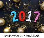 glamour 2017. wooden color 2017 ... | Shutterstock . vector #540684655