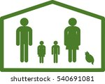 my family | Shutterstock .eps vector #540691081