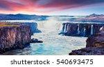 colorful summer landscape on...   Shutterstock . vector #540693475