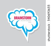 brainstorm   vector business... | Shutterstock .eps vector #540693655