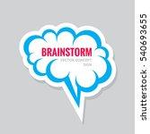 brainstorm   vector business... | Shutterstock .eps vector #540693655