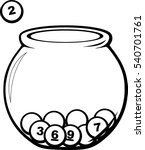 raffle with glass bowl | Shutterstock .eps vector #540701761