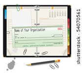 open organizer with pencil and...   Shutterstock . vector #54070561