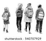 the children go home from school | Shutterstock . vector #540707929