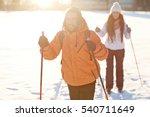couple skiing | Shutterstock . vector #540711649