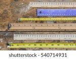 Various measuring sticks ...