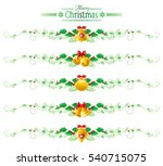 merry christmas  happy new year ... | Shutterstock .eps vector #540715075