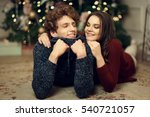 young romantic cute couple... | Shutterstock . vector #540721057