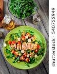 fresh salad with chicken breast ... | Shutterstock . vector #540723949