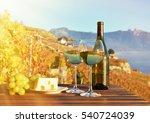 wine and grapes against geneva... | Shutterstock . vector #540724039